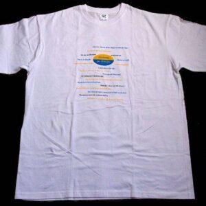 Koszulka Gŏdōmy po Ślōnsku wer.3 (biała, czarna, niebieska) (Kopia)